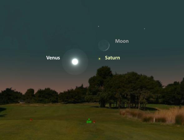 Венера и Сатурн ще блестят близо до сърповидната луна на 2 ноември