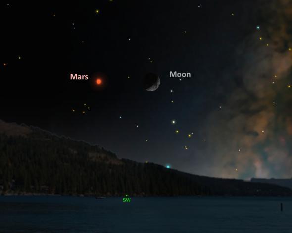 Марс ще има възможността да се срещне с Луната на 5 ноември