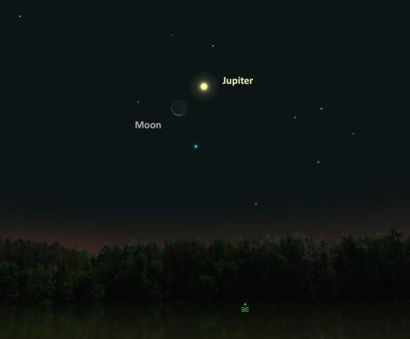 Юпитер ще се надвеси над Луната на 25 ноември