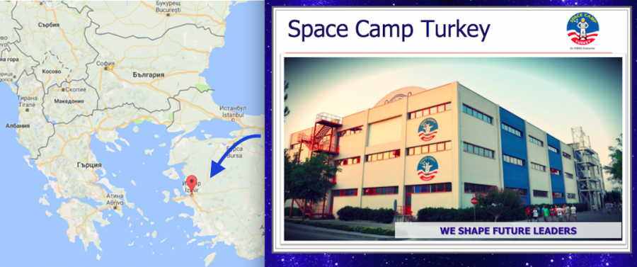 Местоположение на Space Camp Turkey в град Измир, Турция.