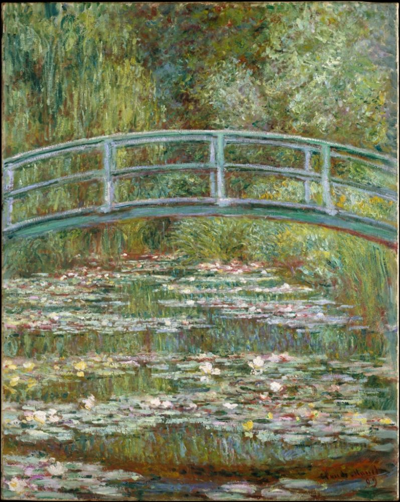 Клод Моне, Мост над езерото с водни лилии (1899)