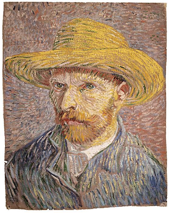 Винсент Ван Гог, Автопортрет със сламена шапка (1877)