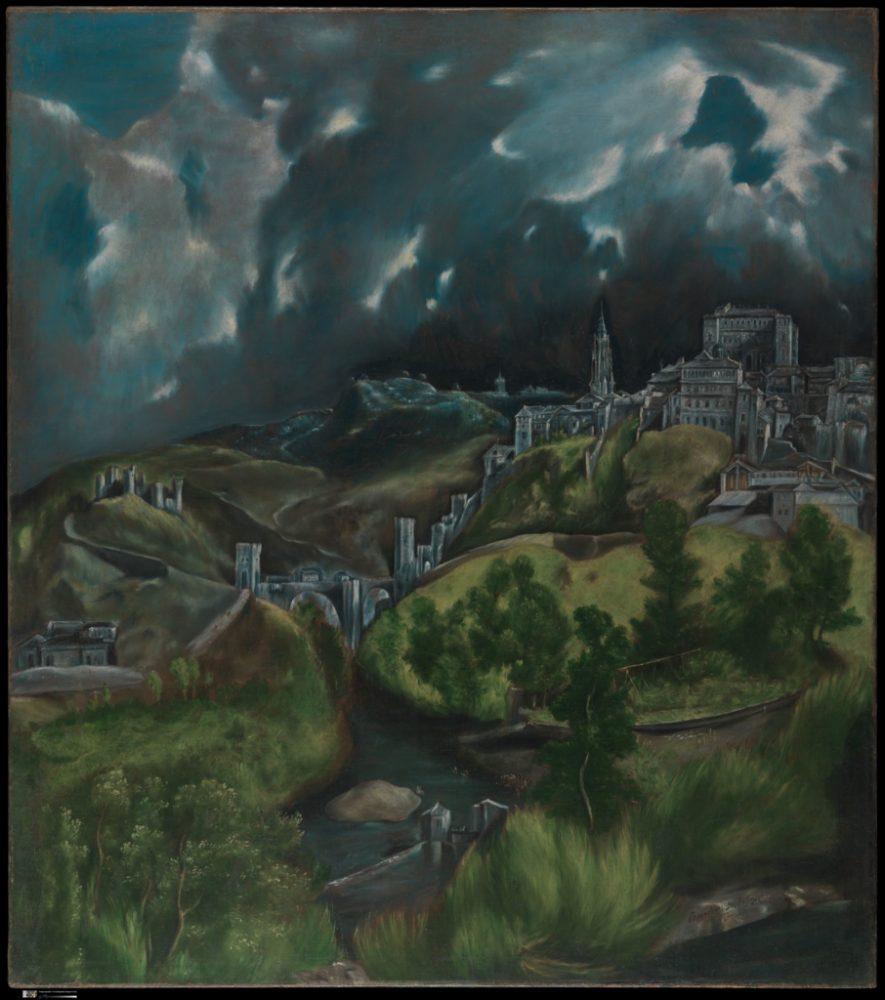 """Ел Греко, """"Изглед от Толедо"""" (1598–99)"""