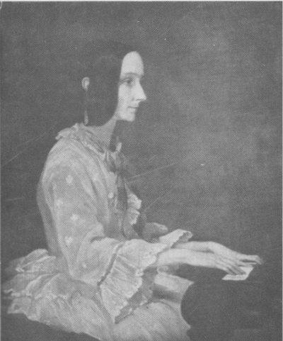 Портрет на Ада Лъвлейс, свиреща на пиано, направен от Хенри Филипс през 1852 г. Credit: The Calculating Passion of Ada Byron by Joan Baum, Wikipedia