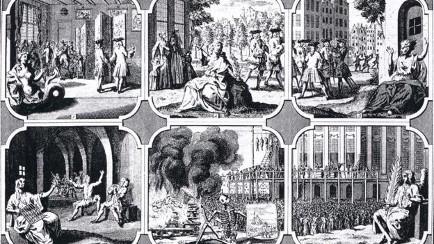 Илюстрация на съдебните процеси срещу содомия в Утрехт