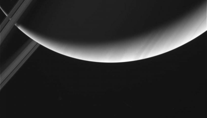 Снимка на Сатурн, заснета от Касини на 29-ти април 2017 г. Photo credit : NASA/JPL-Caltech/SSI