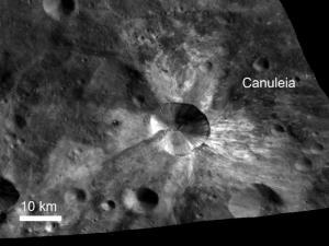 Даун показва нови повърхностни характеристики от Веста