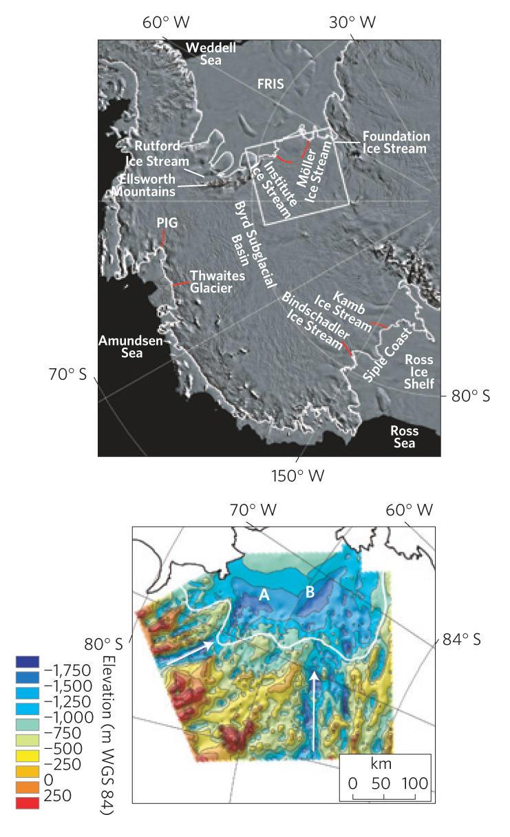 Потенциална нестабилност в западно-антарктическата ледена покривка