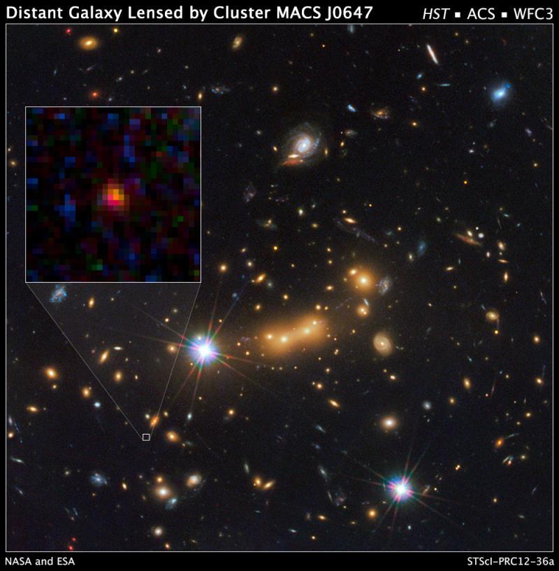 Кандидат за най-далечна галактика