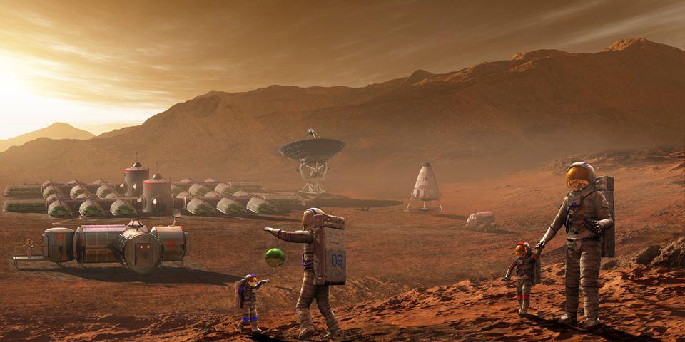 Космическа станция на Марс