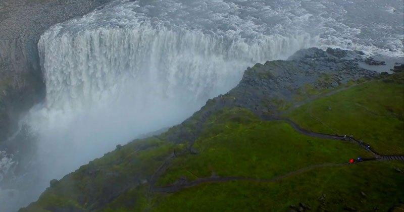 Видео кадри над Исландия