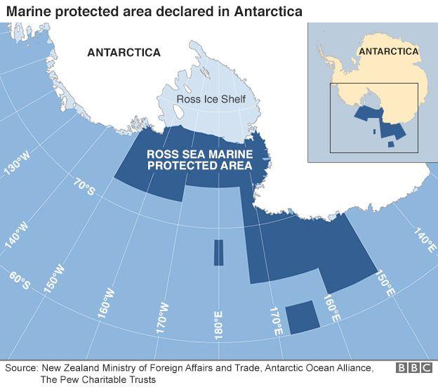 Защитени територии в Антарктида.