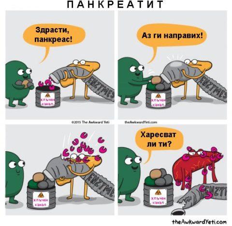 Комикс: Панкреатит