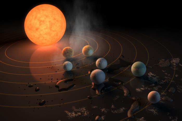 Телескоп на НАСА откри най-голямото струпване на планети с размера на Земята в обитаемата зона около една звезда