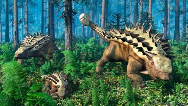 Анкилозаврите били на практика живи танкове. Credit: Roger Harris/Science Photo Library)