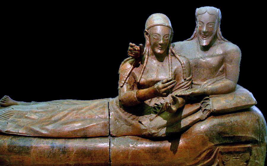 Саркофагът на Невястата и Младоженецът. Credit: Gerard M, Wikipedia (CC BY-SA 3.0)
