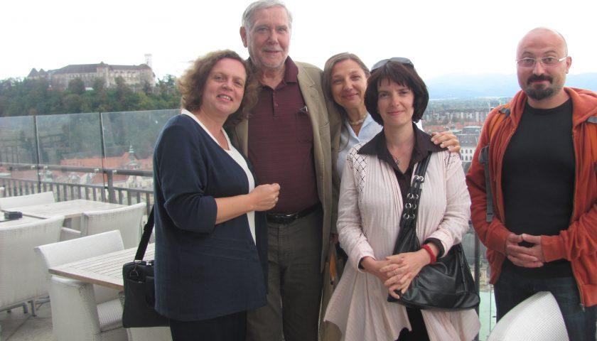 Снимка с екипа по българо-словенски проект, чийто участник е била през периода 2012-2014г.