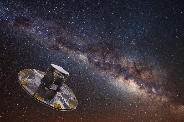 Гая картира звездите на Млечния път. ЕКА