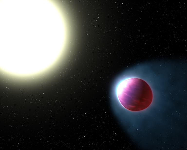 Ако човешкото око можеше да види тази планета, тя би изглеждала приблизително по този начин. Credit: NASA, ESA, and G. Bacon (STScI)