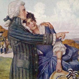Моцарт и съпругата му Констанца след сватбата им.