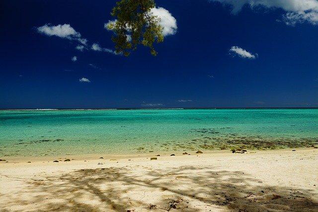 Гледка от остров Мавриций в Индийския океан