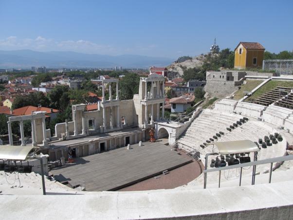 Античният театър в град Пловдив