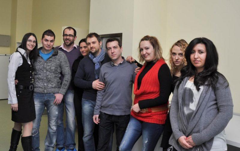 """2013 г. – С колеги биолози на откриването на новата болница МБАЛ """"Надежда"""""""