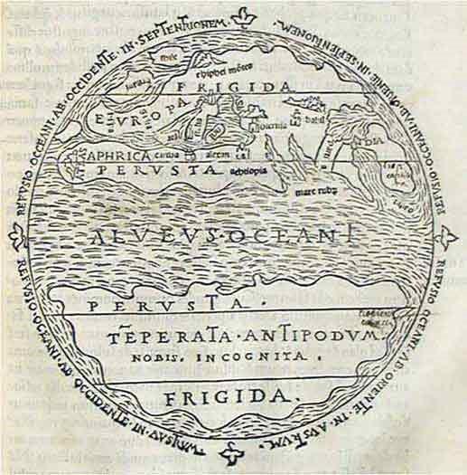Карта на света, Макробий, ~V в. н.е.