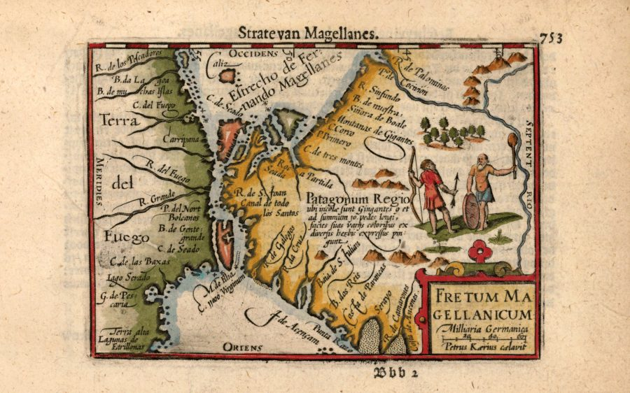 Калиграфска карта на Магелановия проток, Питър де Берт, 602