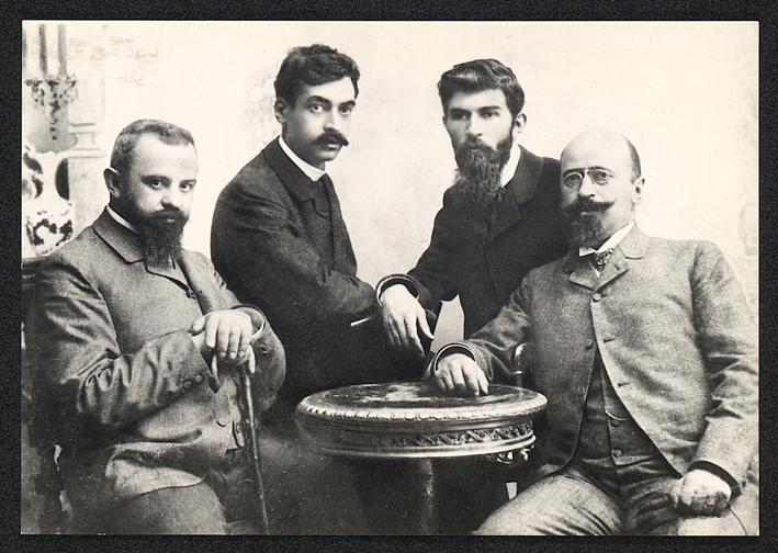 Пенчо Славейков, Пейо Яворов, Петко Тодоров, Кръстьо Кръстев