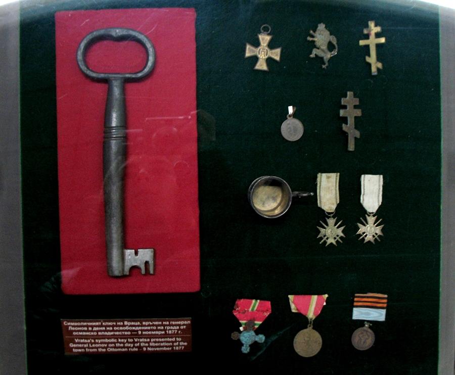 Символичният ключ на Враца, връчен на ген. Леонов в деня на освобождението на града - 9 неомври 1877. Снимка: Росица Ташкова