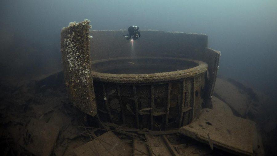 Британският свръх-дреднаут HMS Audacious бил първият британски боен кораб, загубен през Първата световна война. Credit: Steve Джоунс/www.millionfish.com