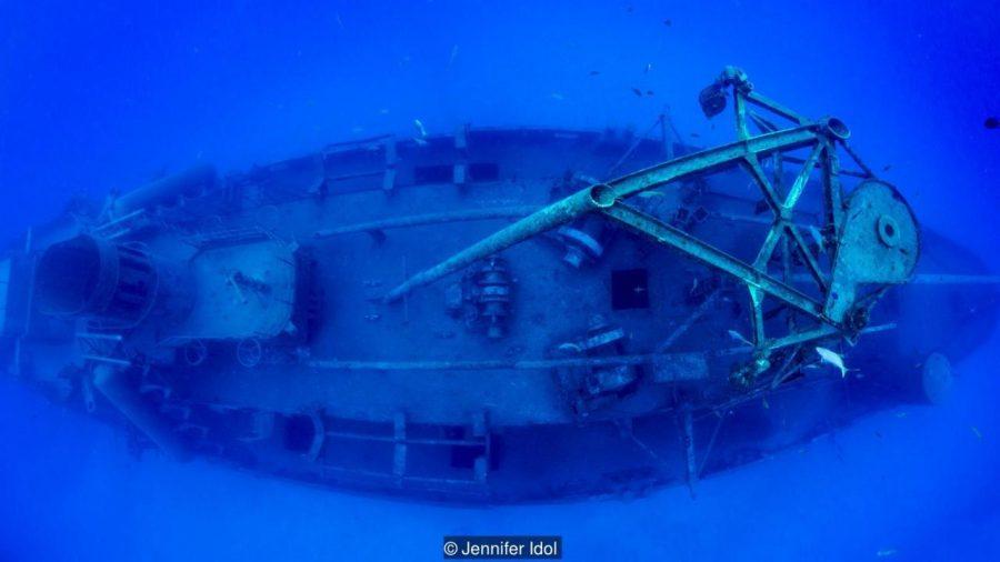 """""""Останки като USS Kittiwake може да изискват панорамни снимки, за да се покаже тяхната цялост"""" - Jennifer Idol. Credit: Jennifer Idol"""