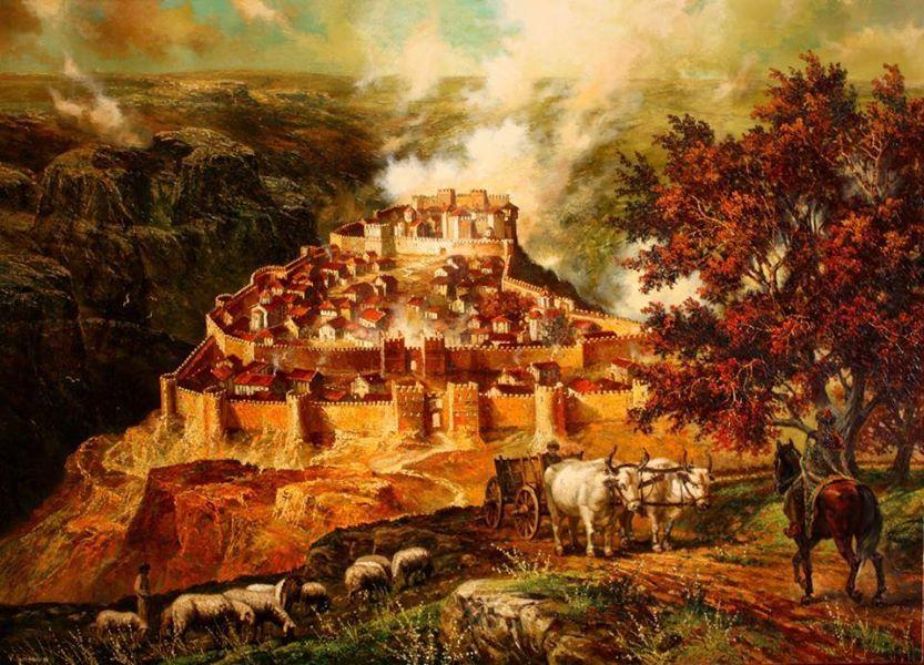 Крепостта Червен през XII век. В. Горанов, CC BY 2.5