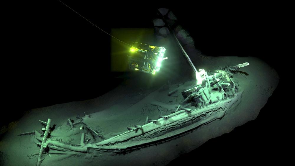 Останките на древногръцкия кораб