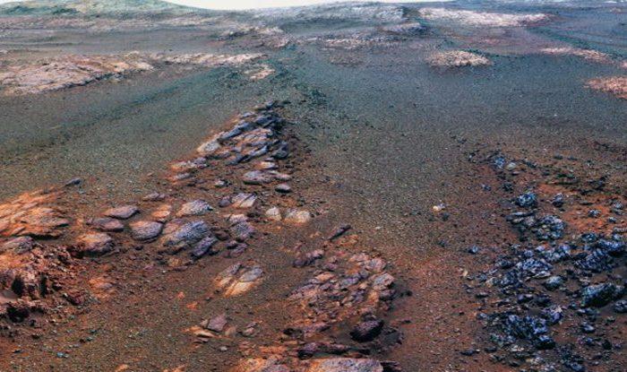 Последната снимка на Опортюнити от Марс