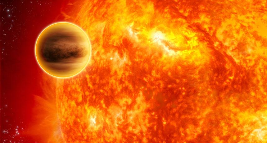 Погледни към звездите. Тази гиганстка планета, обикаляща около звездата Пегаси, е била първата открита екзопланета, която не обикаля около звезда, подобна на Слънцето. Учените се надяват новият алгоритъм да открие стотици такива светове като изучава химични елементи на звездите им. Credit: JPL-CALTECH/NASA