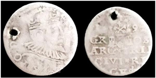 Троен грош на Сигизмунд III Ваза от с. Софрониево