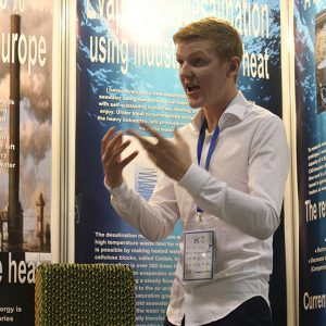 Jonatan Carl Persson, Evaporation desalination with industrial waste heat, Sweden