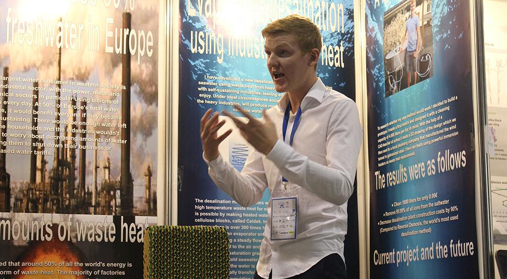 Jonatan Carl Persson, Evaporation desalination with industrial waste heat, Sweden