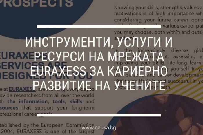 Инструменти, услуги и ресурси на мрежата EURAXESS за кариерно развитие на учените