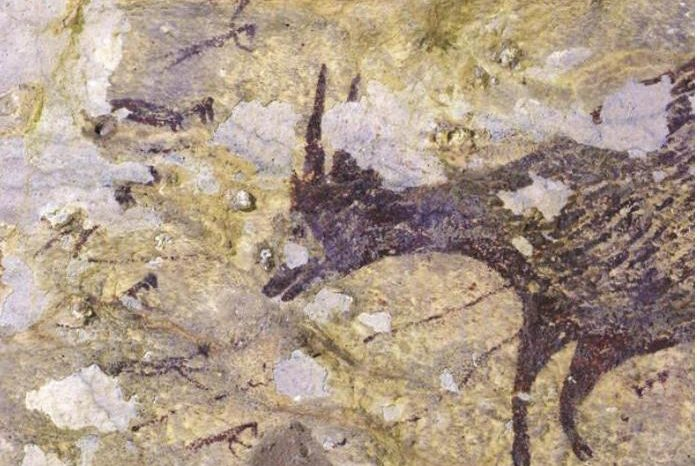 Пещерна рисунка от Индонезия е най-старият визуален разказ, достигнал до нас  - от 129 брой