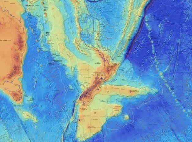 Потъналият континент Зеландия е картографиран в най-прецизни детайли
