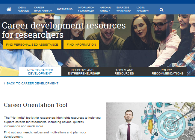 EURAXESS: Ресурси и инструменти на мрежата за кариерно развитие
