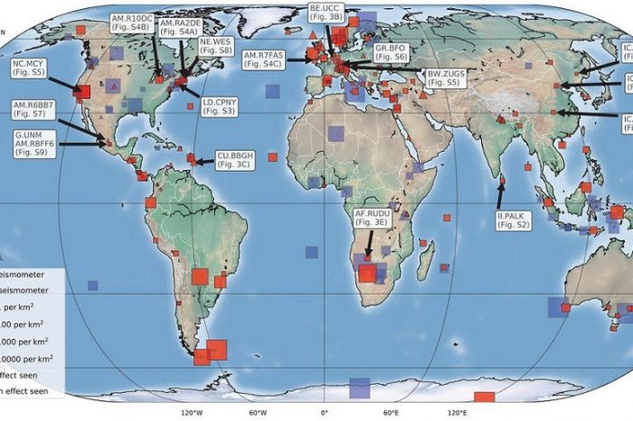 Промени в сеизмичния шум по време на пандемията от COVID-19