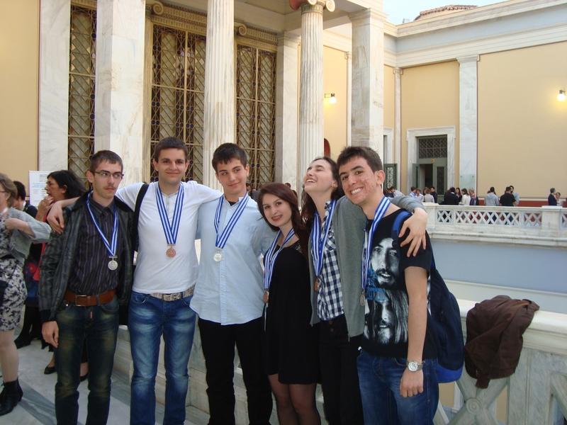 Ученици отличени с медали от XII олимпиада на ЕС по природни науки