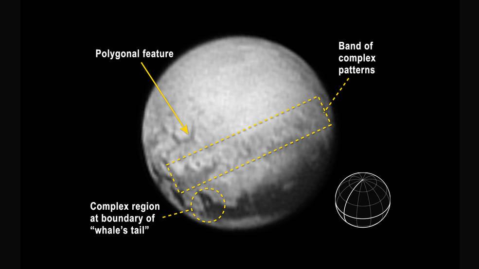 Снимки на Плутон от 9-ти юли! Геологични структури!