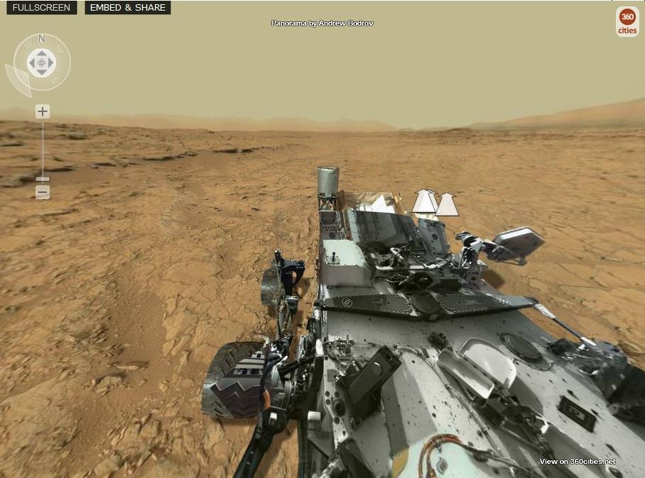 """Ако седите до """"Curiosity"""" ще видите точно това!"""