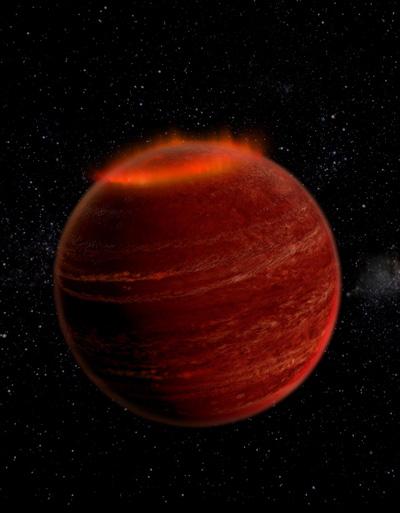 За първи път се наблюдава полярно сияние извън Слънчевата система
