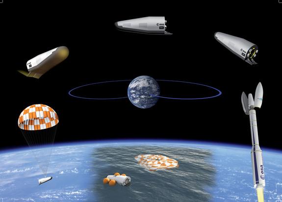ЕКА изстреля успешно космически самолет